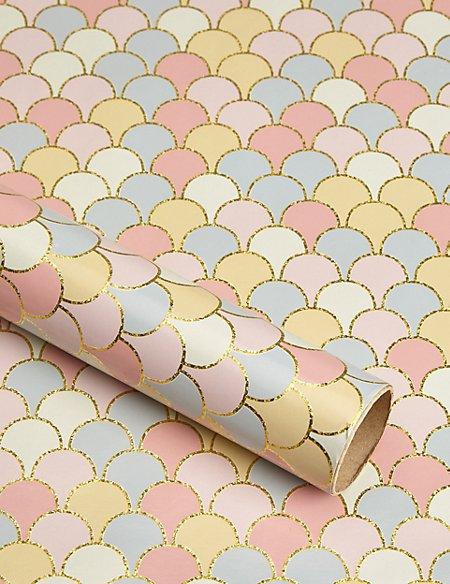 Pastel Scalloped Design Roll Wrap