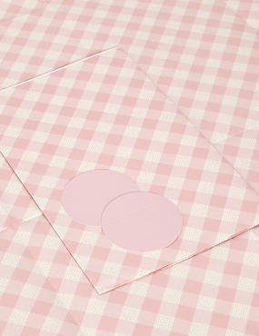 Pink Gingham Sheet Wrapping Paper