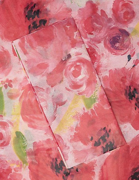 Pink Floral Tissue Paper
