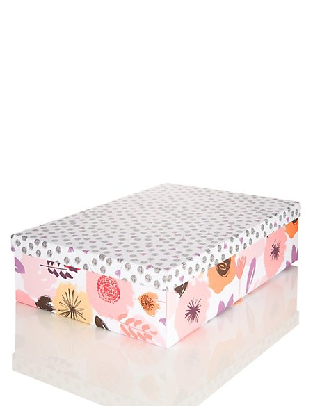 Flat Pack Floral Medium Gift Box