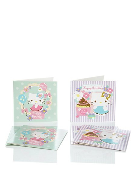 6 Hello Kitty Duo Multipack Cards