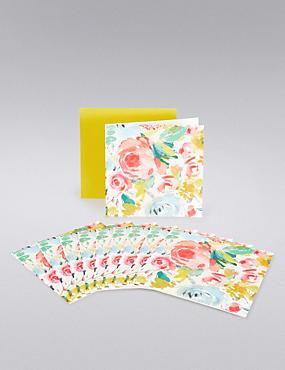 Rose Floral Multipack Cards