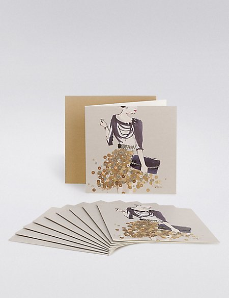 Glitter Dress Multipack Cards