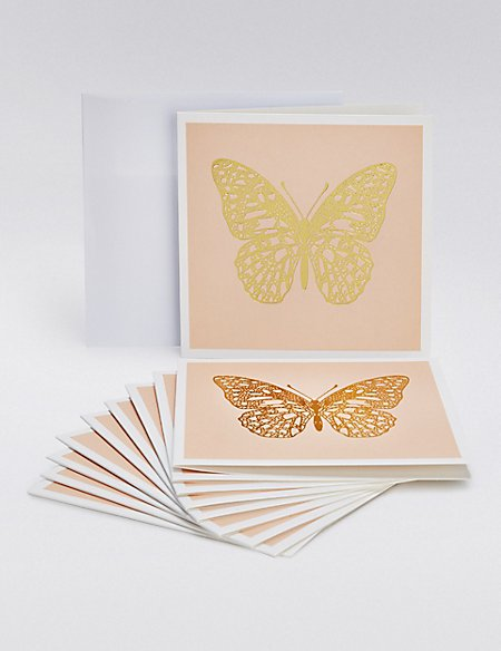 Gold Butterfly Multipack Cards