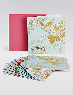 Blue Floral Multipack Cards