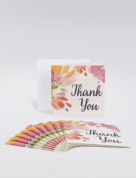 floral thank you multipack cards  ms