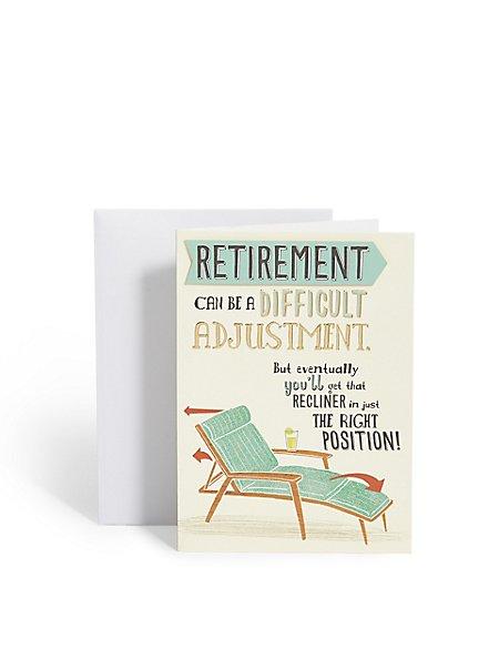 Recliner Retirement Card