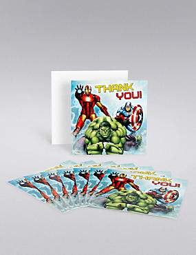 Marvel Avengers Thank You Cards