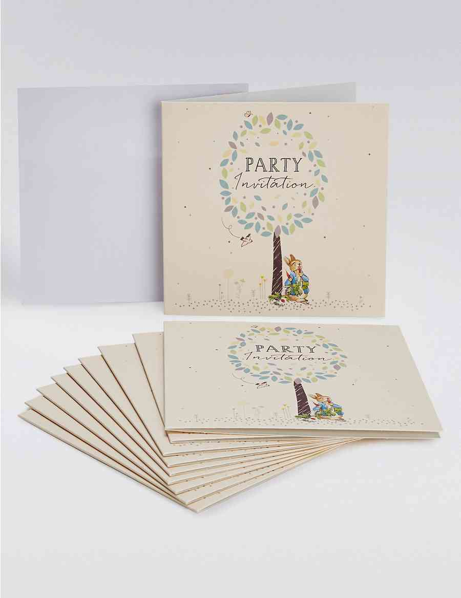 Peter Rabbit Party Invites M S