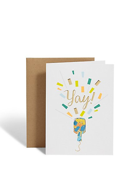 Party Popper Congratulations Card