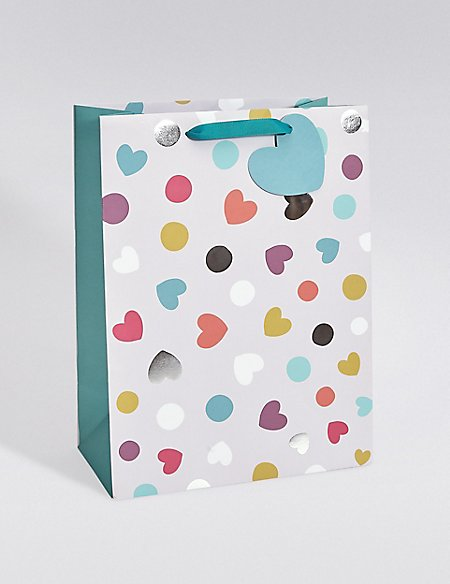 Hearts & Spots Large Gift Bag