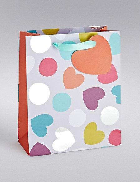 Hearts & Spots Medium Gift Bag
