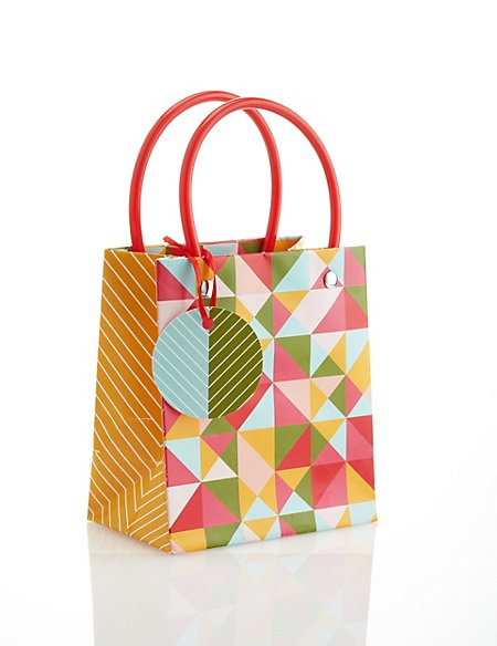 Small Geometric Gift Bag