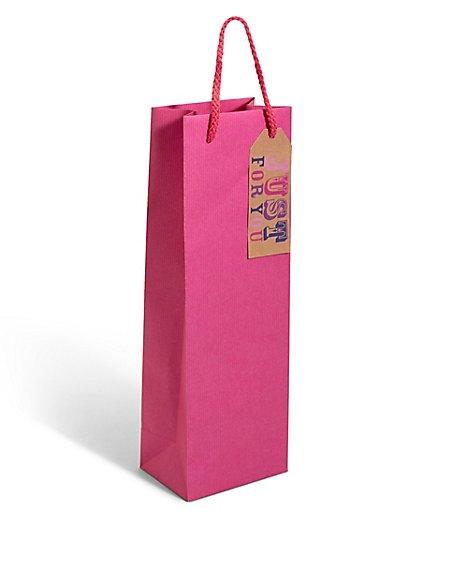 Pink Kraft Bottle Bag