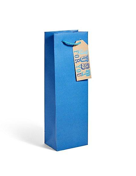 Blue Kraft Bottle Bag