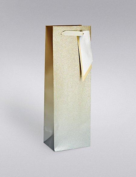 Gold & Silver Ombre Glitter Bottle Bag