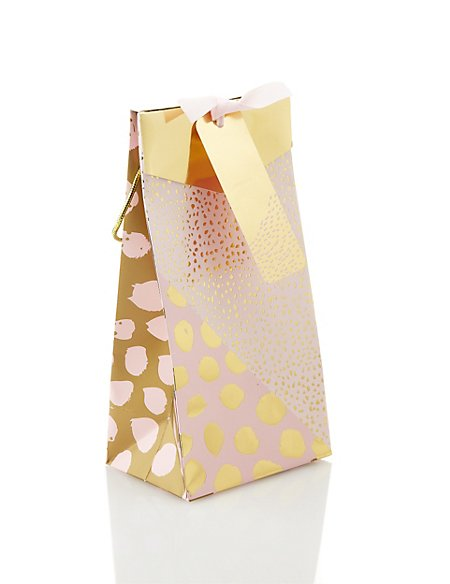 Coral & Gold Perfume Bag