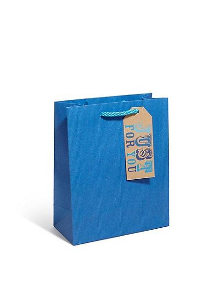 Blue Craft Medium Gift Bag