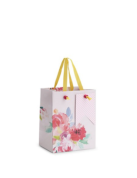 Painted Floral Small Gift Bag