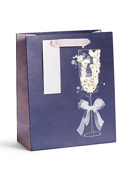 Prosecco Glass Medium Gift Bag