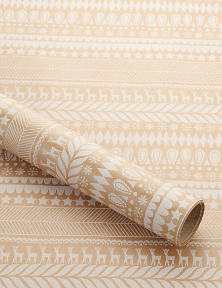 Scandinavian Striped Christmas Wrapping Paper