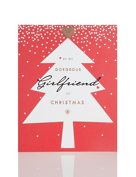 girlfriend christmas tree christmas card