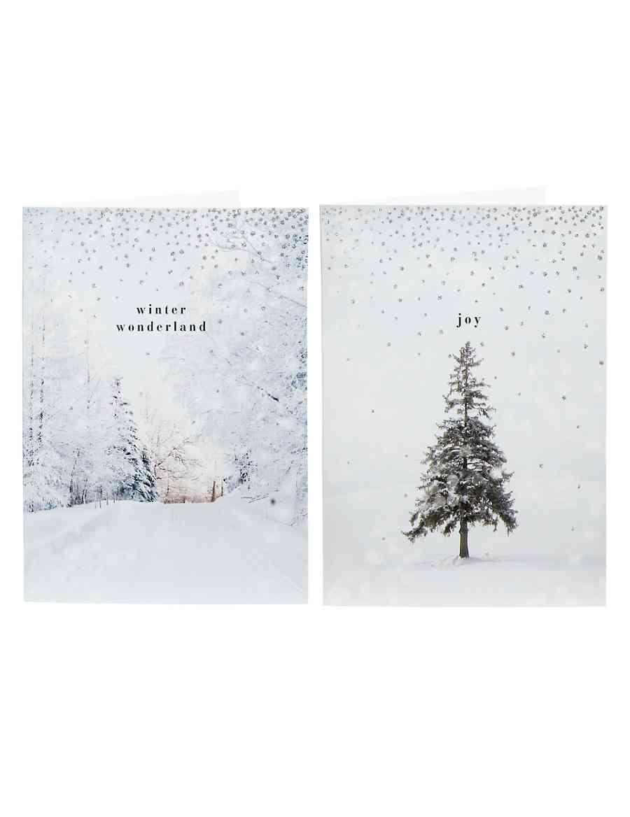 Winter Scene Christmas Cards - Pack of 20 | M&S