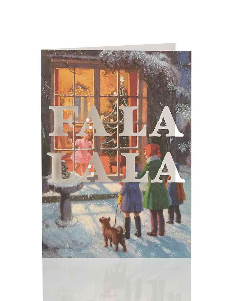 8 Luxury Fa La La La Christmas Multipack Cards | M&S
