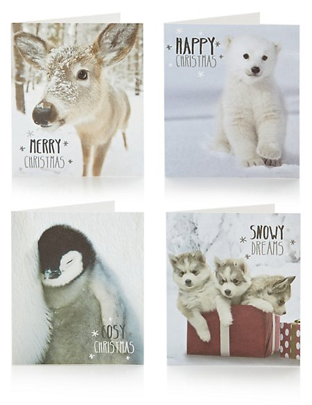 30 adorable animals christmas cards - Animal Christmas Cards