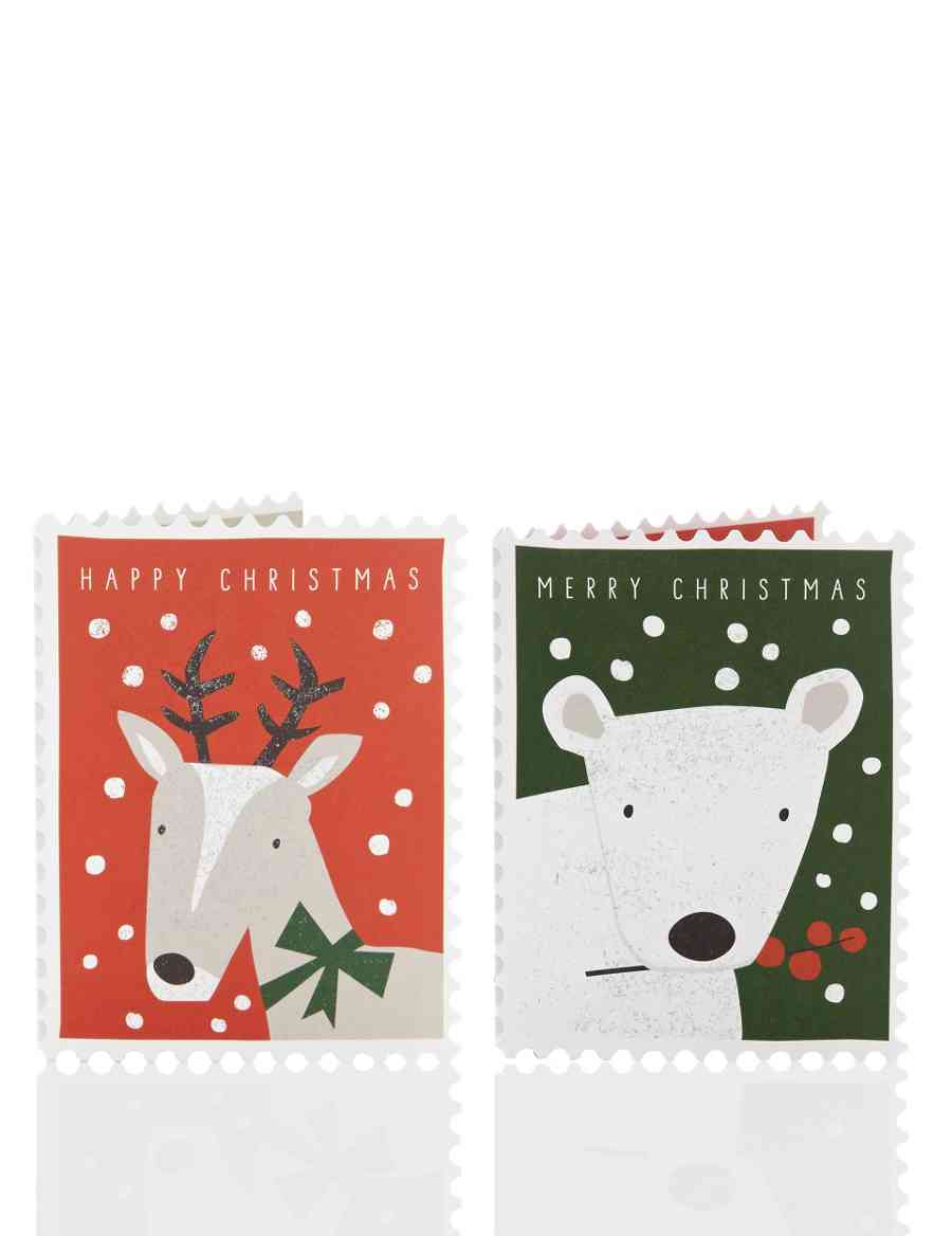 20 Winter Animal Charity Christmas Cards | M&S