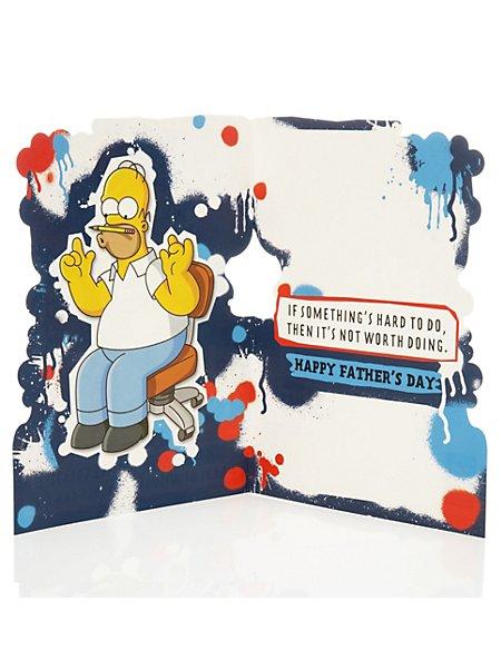 Fun Homer Simpson Fathers Day Card Ms