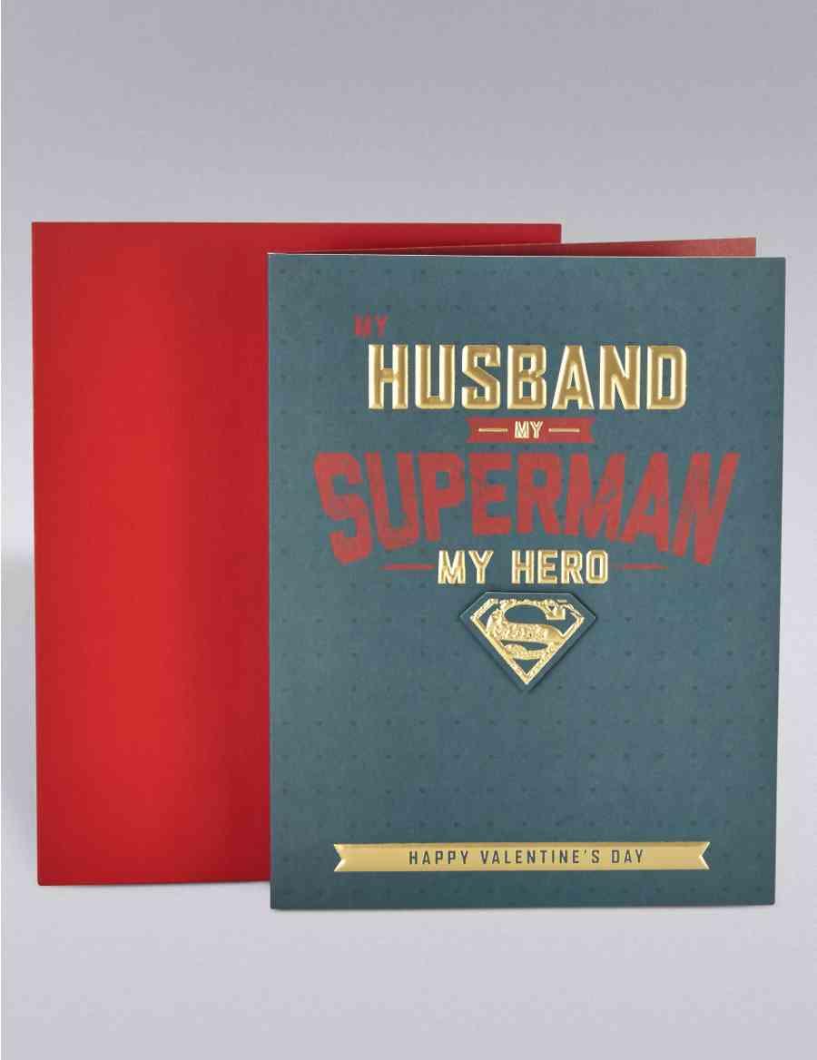 58ac8c0395f65 Husband Superman Valentine s Day Card