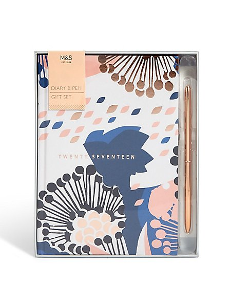 Boxed Floral Diary