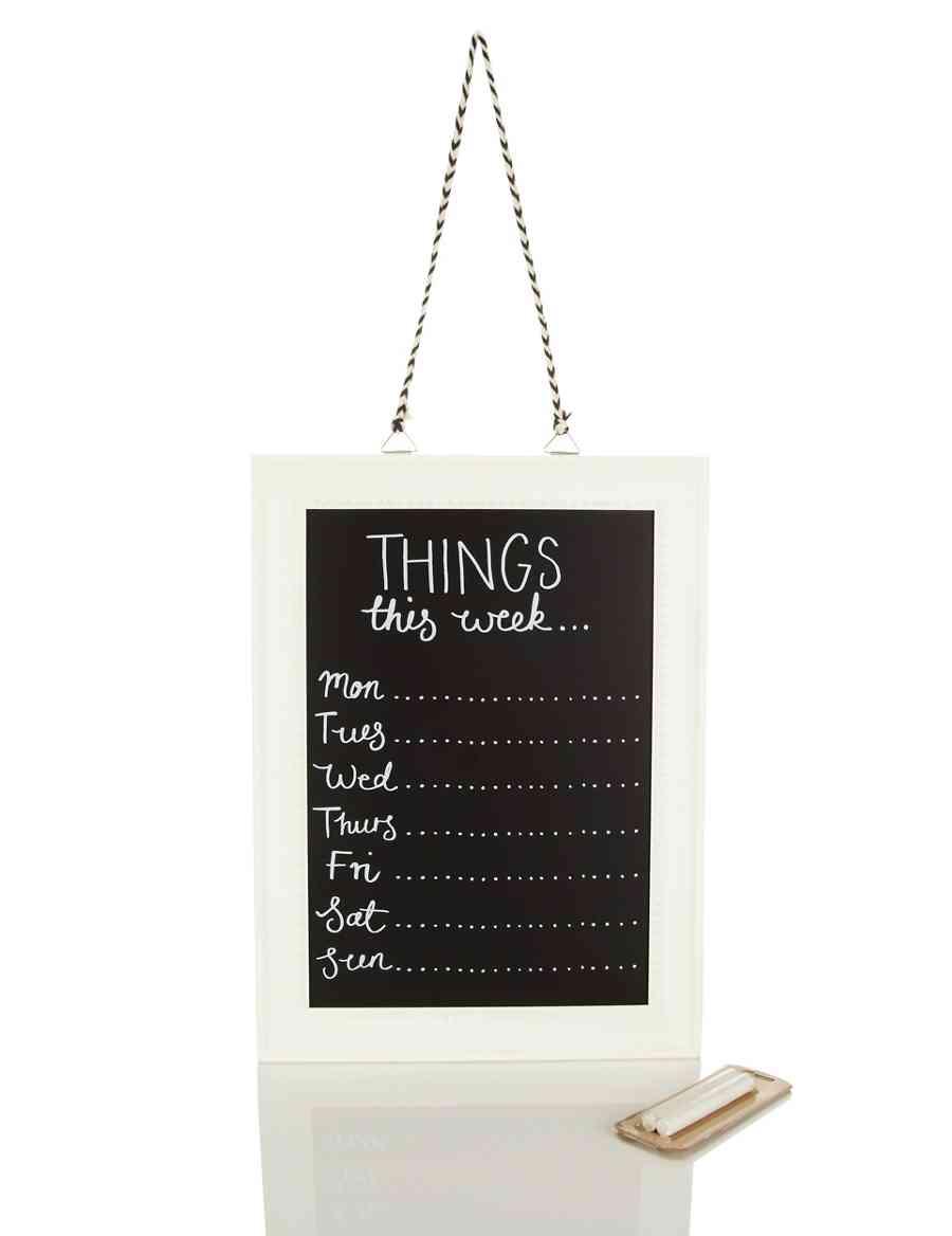 Framed Chalkboard Weekly Planner | M&S
