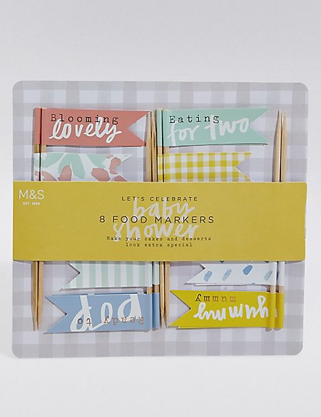 Baby Shower Food Markers