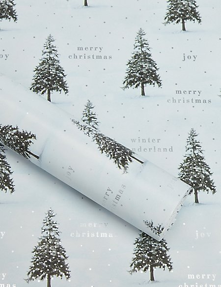 Nordic Noel Photographic Christmas Trees 3m Wrapping Paper