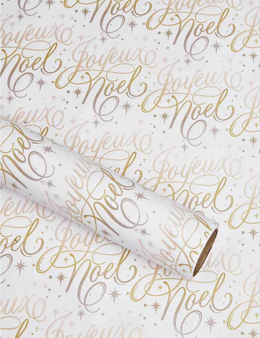 Hollywood Glitter Script 3m Christmas Wring Paper