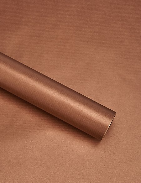 Hollywood Copper Kraft 3m Christmas Wrapping Paper
