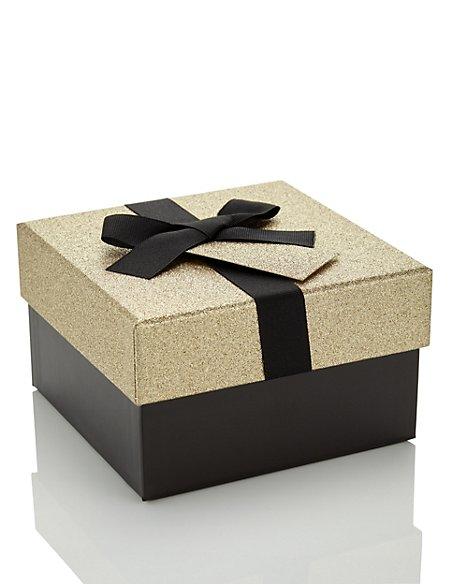 Product images. Skip Carousel. Gold Glitter Medium Gift Box  sc 1 st  Marks u0026 Spencer & Gold Glitter Medium Gift Box | Mu0026S