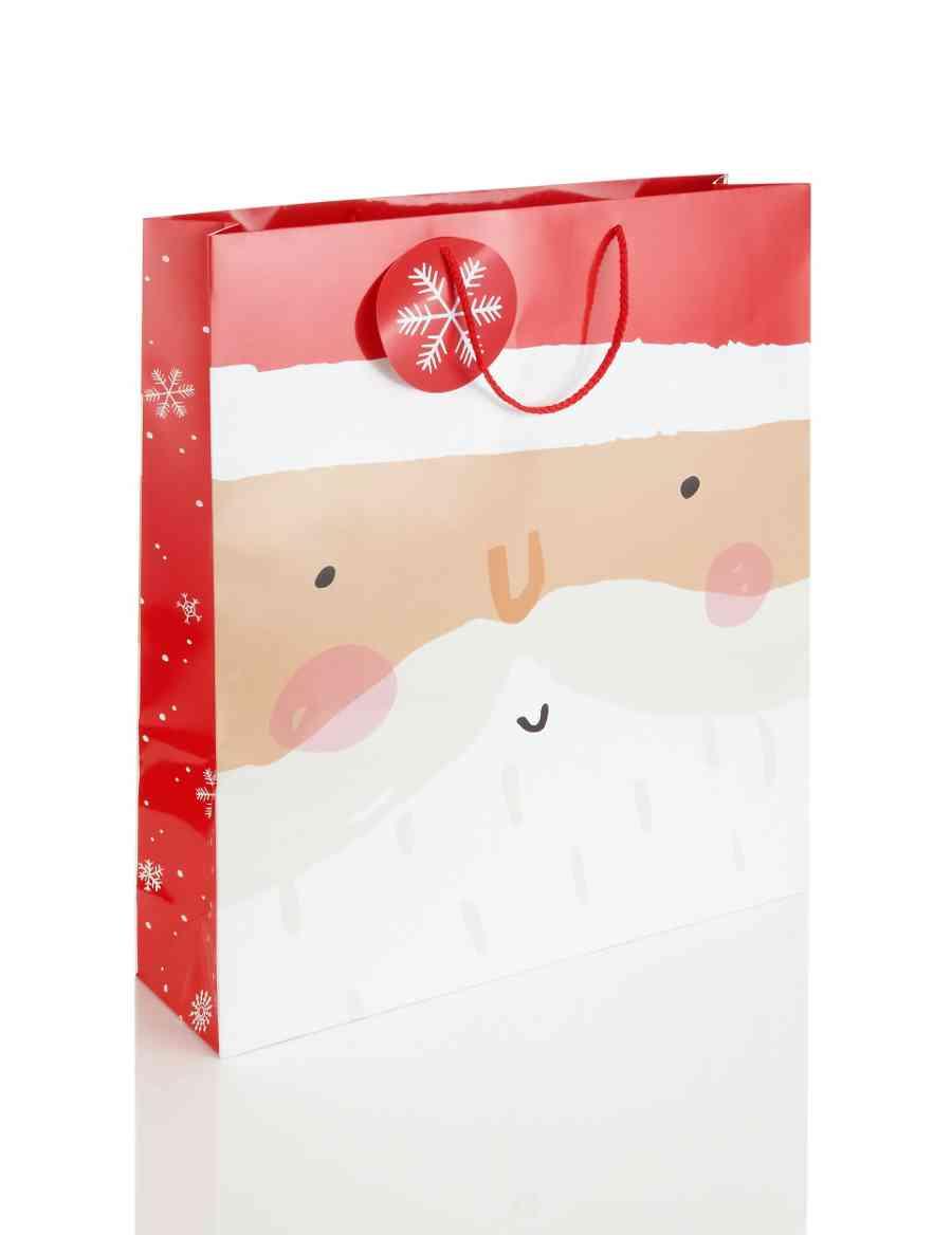 Jumbo Santa Christmas Gift Bag | M&S