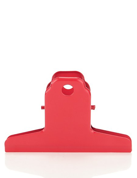 Large Red Metal Clip