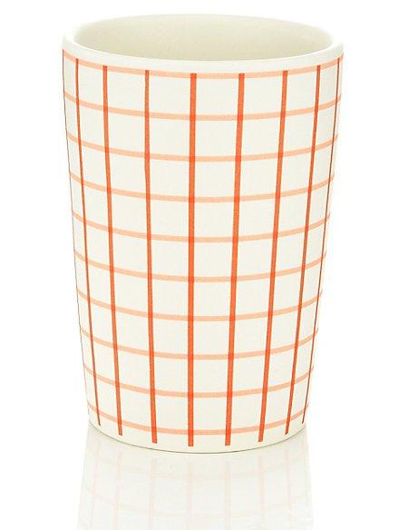 Red Ceramic Pen Pot