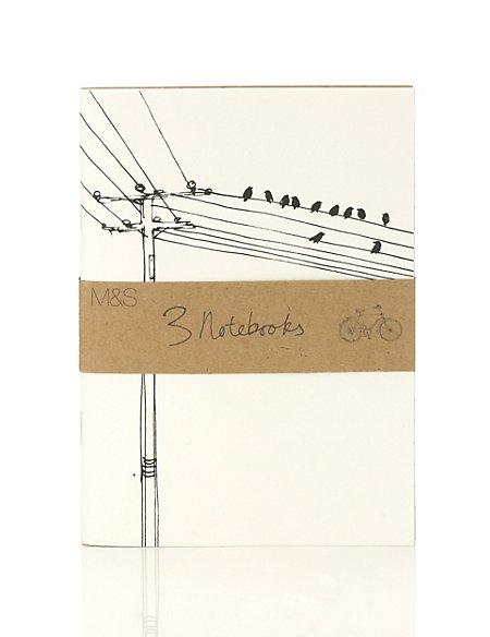 Classic Illustrated Set of 3 Mini Notebooks
