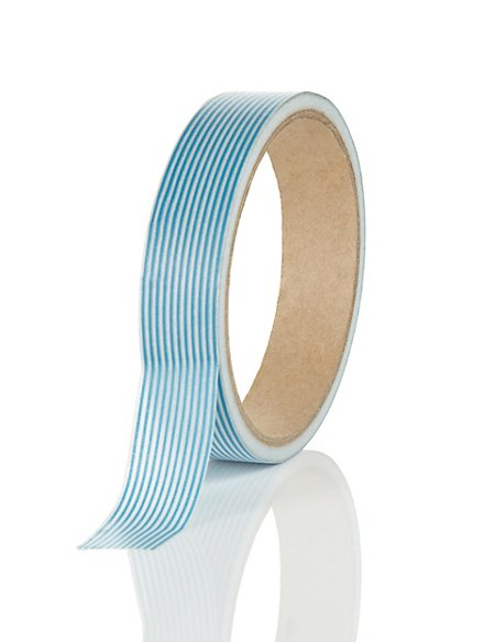 Large Blue Printed Tape