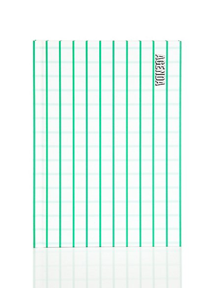 Green Checked Weekly Planner
