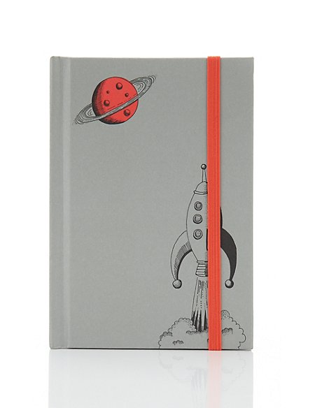 Classic Illustrated Boutique Rocket A6 Notebook