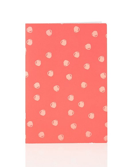 Boutique Spotty Red B5 Exercise Book