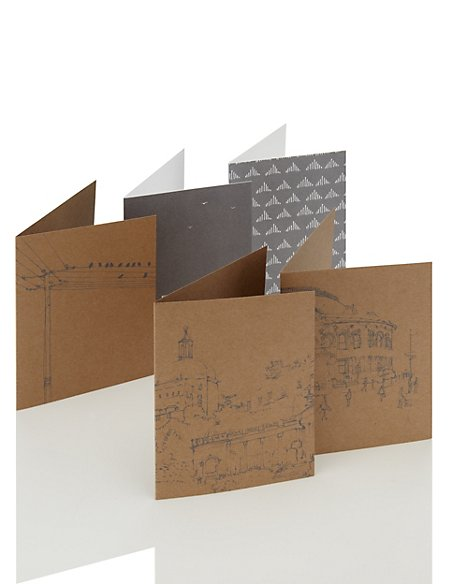 Classic Illustrated Box of Note Cards (10)
