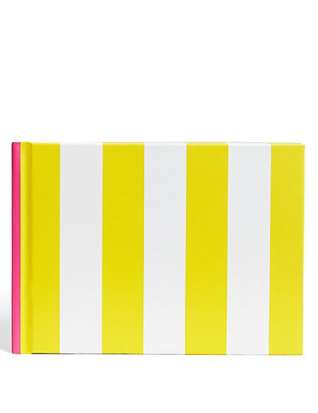 Contemporary Vibrant Yellow Stripe A6 Notebook