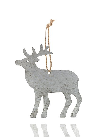 metal reindeer christmas tree decoration - Metal Reindeer Christmas Decorations